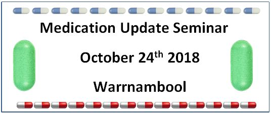 Medication Update seminar 24thOct